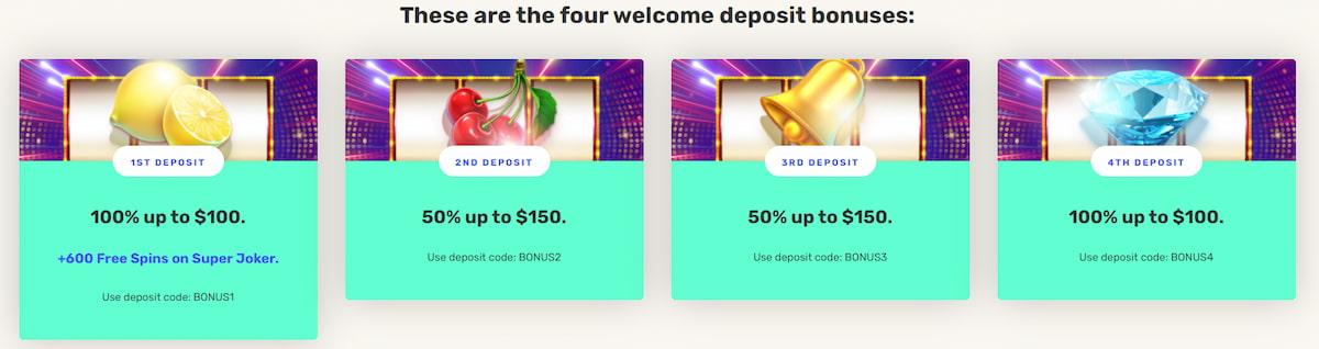 JustSpin Casino Bonuses