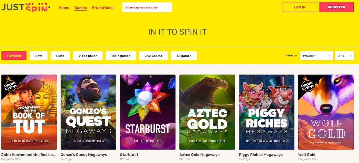 JustSpin Casino Slots