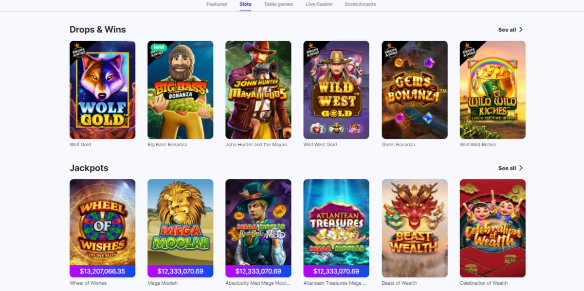 MegaRush Casino Slot Games