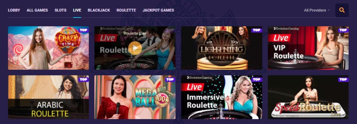 Samosa Casino Live Dealer Games