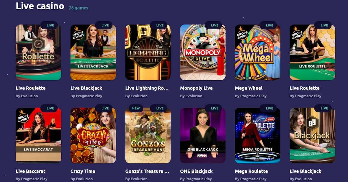 Spinaway Live Casino