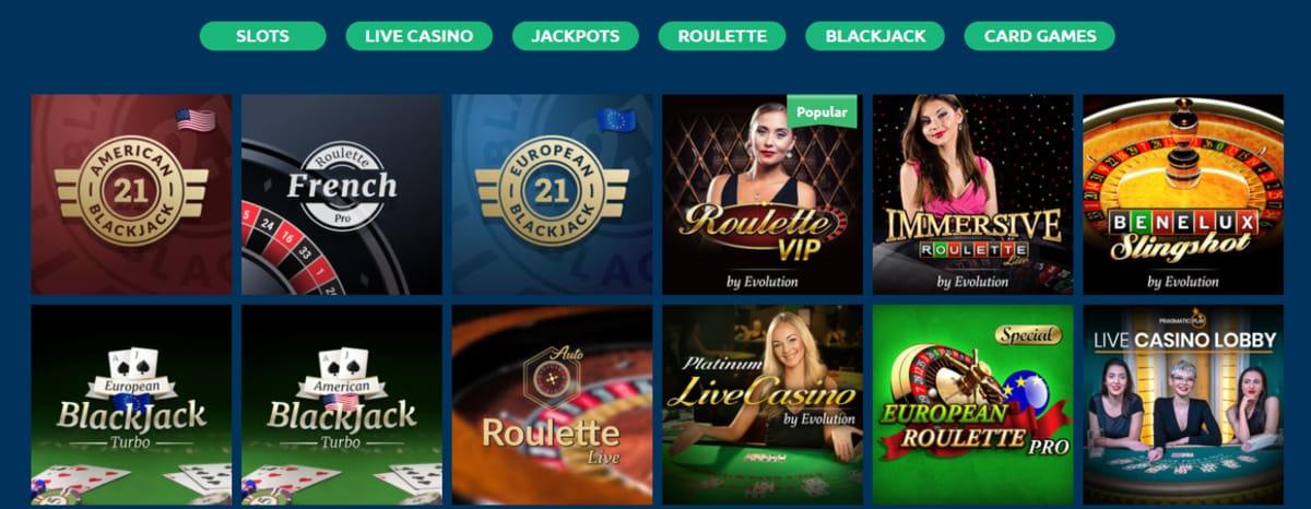 Turbonino Casino Live Dealer Games
