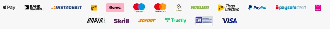 Barz Casino Payment options