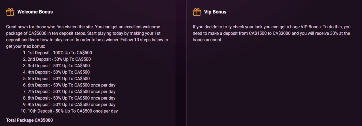 Casinonic Casino Bonus
