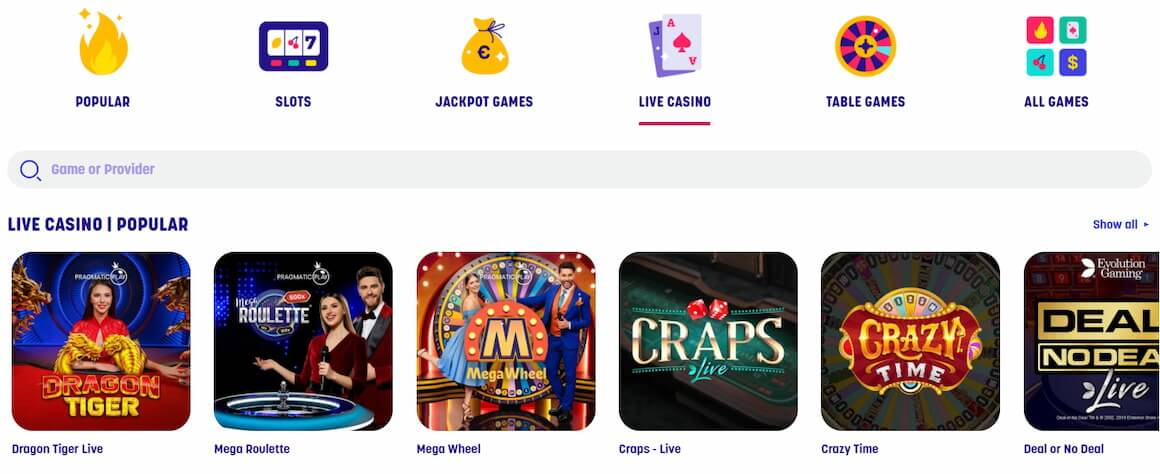 Caxino Casino Live Table Games